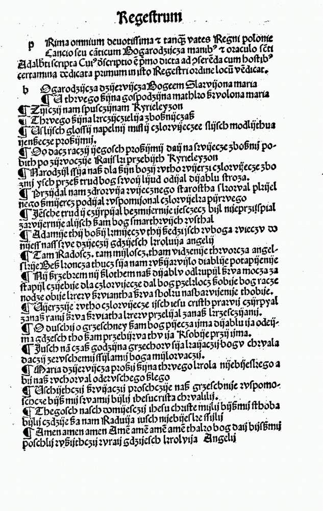 średniowiecze Bogurodzica